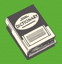 An illustration of a dictionary