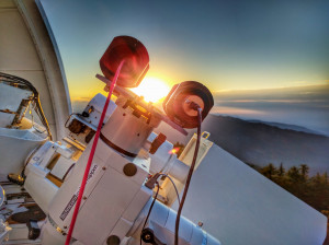 Sunrise over the Mount Wilson Observatory in Los Angeles