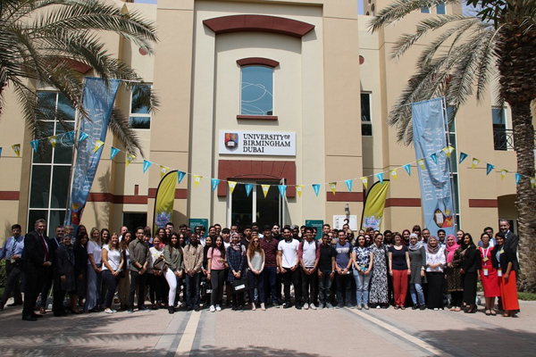 Some of the first cohort of students at the University of Birmingham Dubai