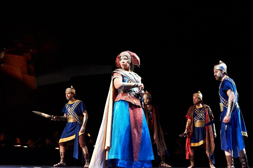 Mary Elizabeth Williams (Abigaille) in Seattle Opera's 2015 Nabucco