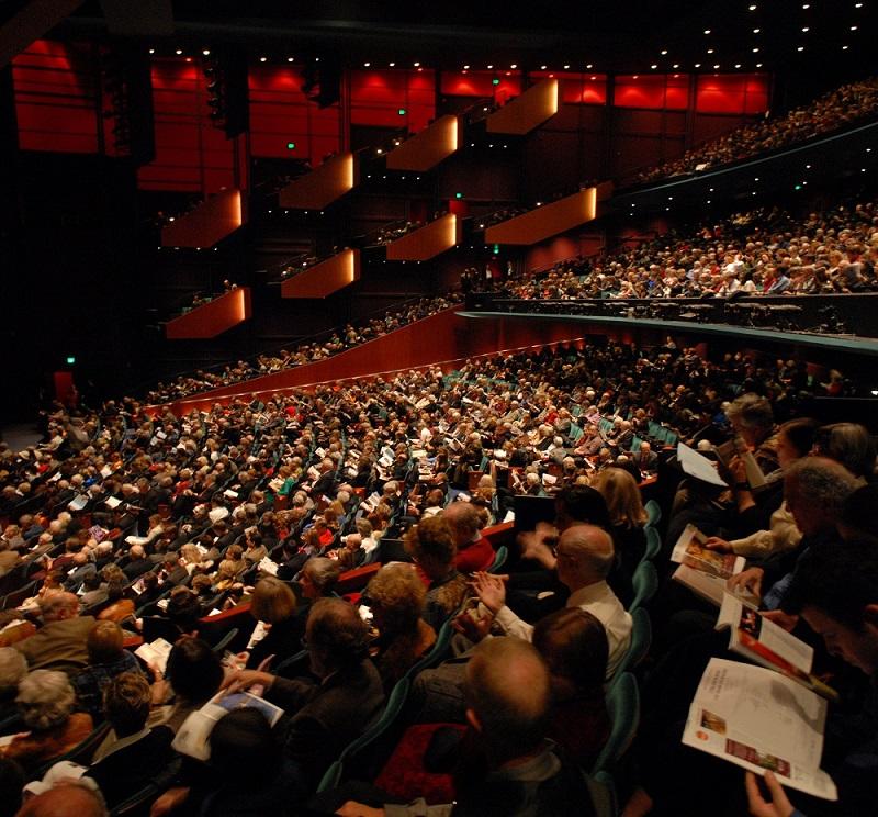 An audience enjoying a performance