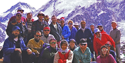 BMRES climbers on one of their earliest mountain treks