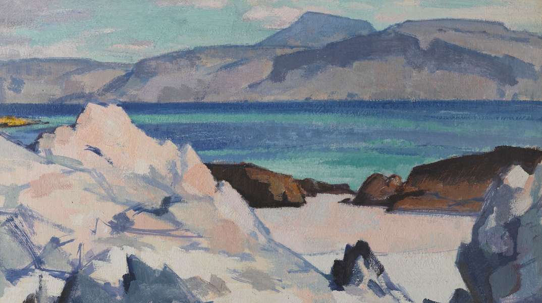 Green Sea, Iona, 1920a by Samuel Peploe, part of the Rhythm of Light: Scottish Colourists exhibition